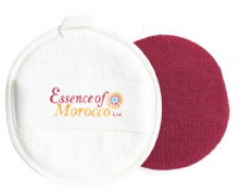 Moroccan Exfoliating Cleansing Kessa Facial Pad Reversible Dual Use as a Cleanser and Exfoliator